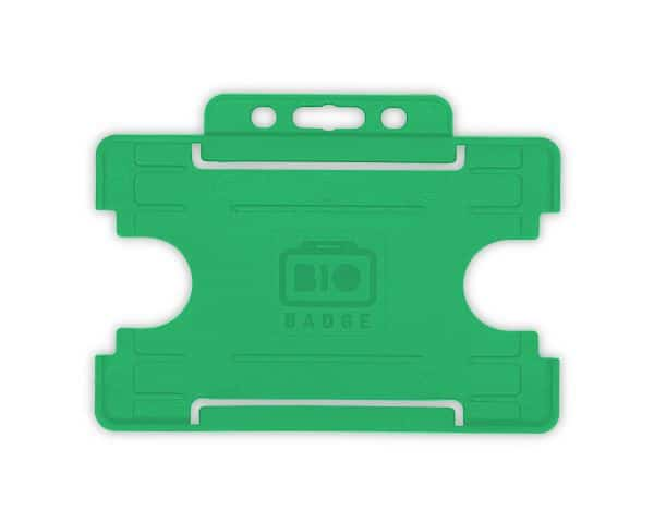Light Green Single-Sided BIOBADGE Open Faced ID Card Holders - Landscape (Pack of 100)