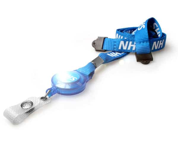 NHS Staff Lanyards with Double Breakaway & Integrated Card Reel (Pack of 100)