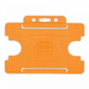 Orange Single-Sided BIOBADGE Open Faced ID Card Holders - Landscape (Pack of 100)