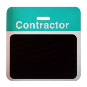 Pack of 1000 - TEMPBadge, Back Part, Contractor (Green) T5915A (Y4253507)