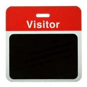 Pack of 1000 - TEMPBadge, Back Part, Visitor (Red) - T5913A (Y4253505)