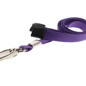 Plain Purple Lanyards with Metal Lobster Clip (Pack of 100)