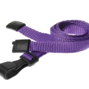 Plain Purple Lanyards with Plastic J Clip (Pack of 100)