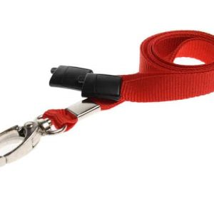 Plain Red Lanyards with Metal Lobster Clip (Pack of 100)