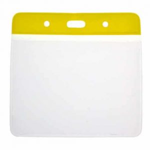 Vinyl Yellow Top Card Holders - 102x83mm (Pack of 100)