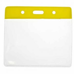 Vinyl Yellow Top Card Holders - 91x65mm (Pack of 100)