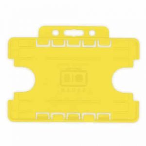 Yellow Dual-Sided BIOBADGE Open Faced ID Card Holders - Landscape (Pack of 100)