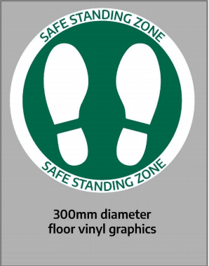 Floor circle safe distancing